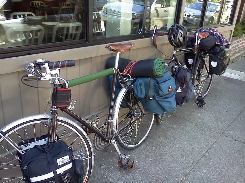 Our bikes: Modified Centurion and Surly Long Haul Trucker