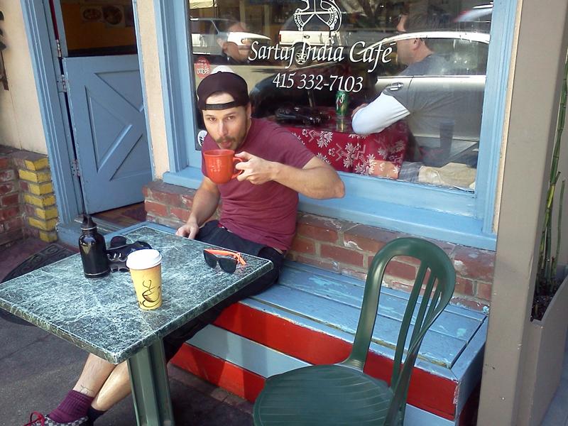 Jonny at Sartaj Indian Cafe in Salsaulito